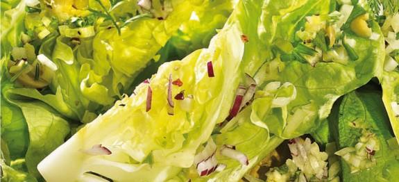Fejes saláta vinaigrette mártással