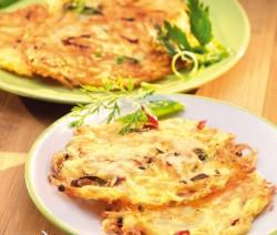Tortilla fokhagymásan, sajtosan sütve