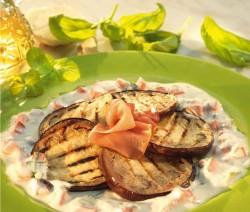 Padlizsán saláta szárított sonkával