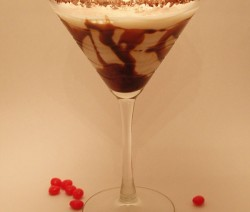 Chocolate Swirl Martini koktél