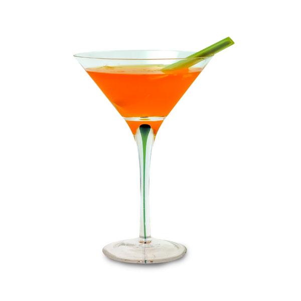 Saffron Lemongrass Martini koktél