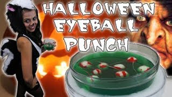 Halloween Eyeball Liquid Marijuana Punch bólé