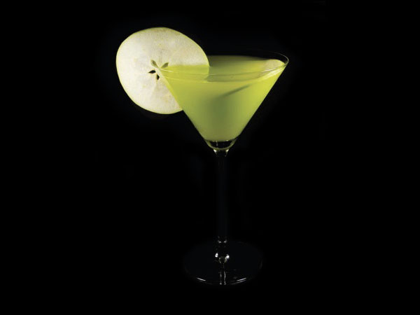 Apple Melon Martini koktél