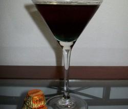 Black Mamba Martini koktél