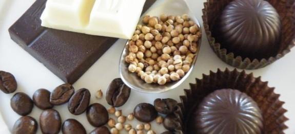 Kávékrémes kávés-fűszeres krokanttal bonbon