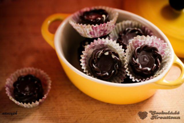 Málnakrémes-rózsavizes bonbon