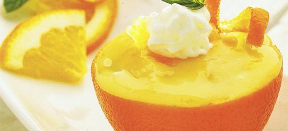 Töltött narancs vaníliakrémmel