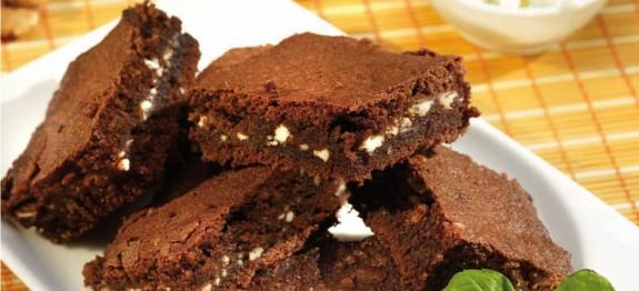 Kakaós-túrós brownie