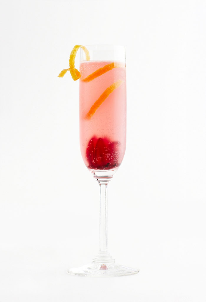 Hibiscus Mimosa koktél