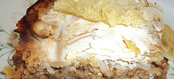 Tejfölös rakott kelkáposzta a sütőből