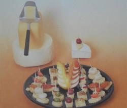 Gyümölcsös sajtfalatok