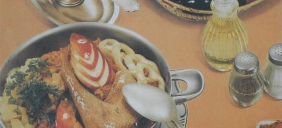 Currys csirkecombok ananásszal és almával