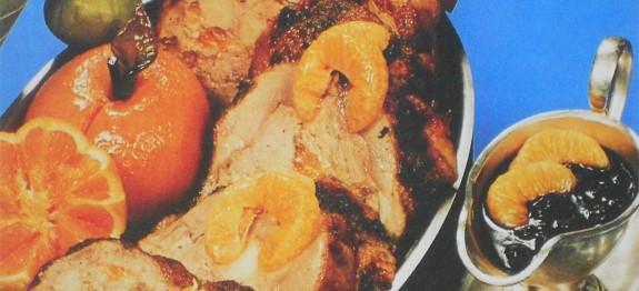 Naranccsal töltött kacsa