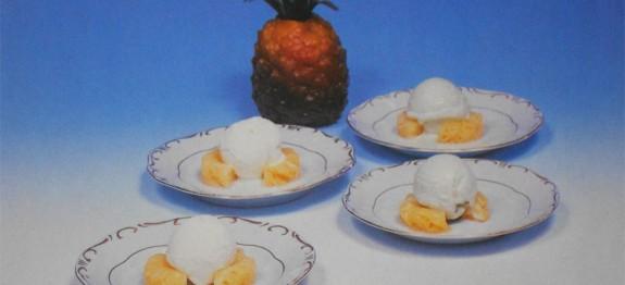 Ananász gyümölcsfagylalttal
