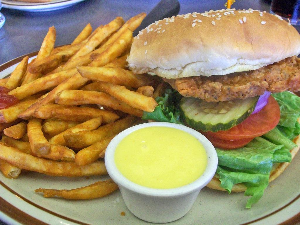 Csirke hamburger (csirke burger)