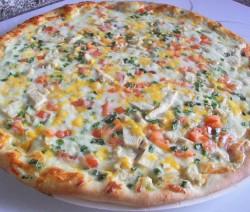 Fokhagymás-csirkés pizza