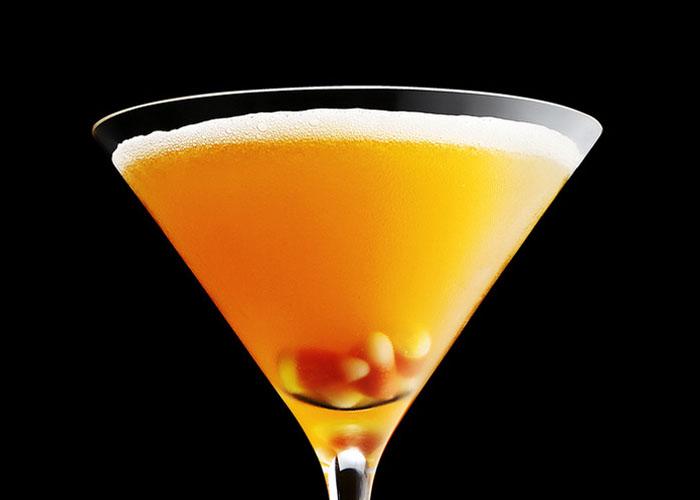 Candy Corn Martini koktél