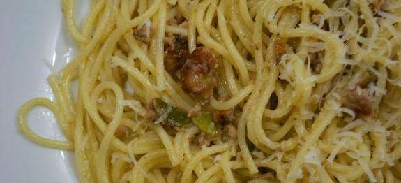 Padlizsános spagetti