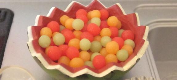 Drunken Melon Balls