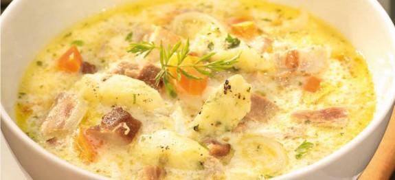 Tárkonyos kacsaragu leves