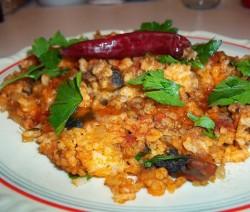 Csiperkegombás rizs
