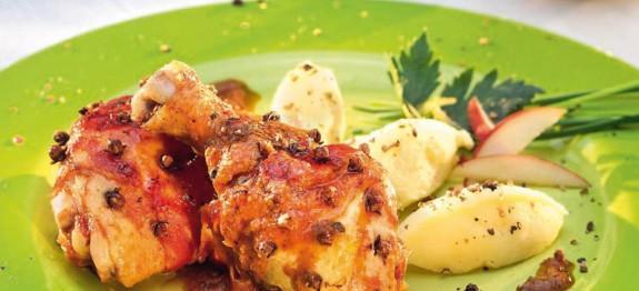 Szegfűszeges sült csirke burgonyapürével