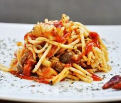 Zöldséges spagetti