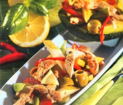 Citromos-avokádós pulykamell saláta