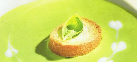 Zöldborsó krémleves