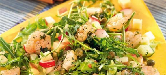 Garnélarák saláta