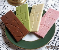 Színes táblás csokoládék