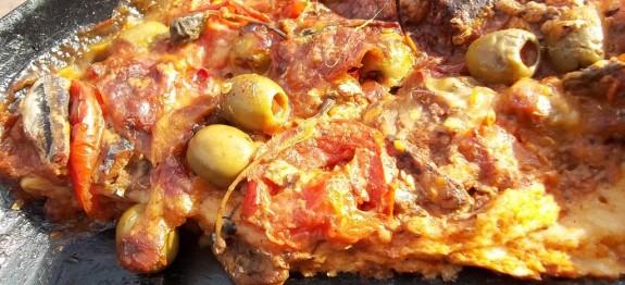 Sprotnis, mozzarellás pizza