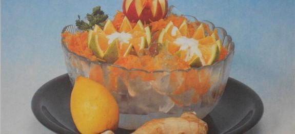 Grapefruit sárgarépával, nyersen