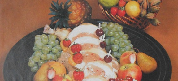 Pulykamellgalantin gyümölcsökkel